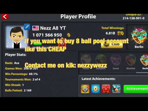 8 Ball Pool *ACCOUNTS* Buy For Cheap Price