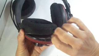 Colocando Earpads - Superlux HD 681