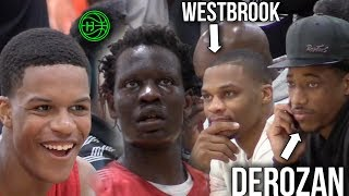 Shareef O'Neal & Bol Bol SHOW OUT Infront of Russell Westbrook & DeMar DeRozan