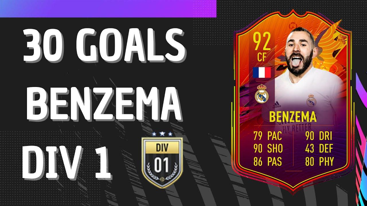 FIFA 21 BENZEMA 92 HEADLINER   30 GOALS   FIFA 21 Ultimate Team - YouTube