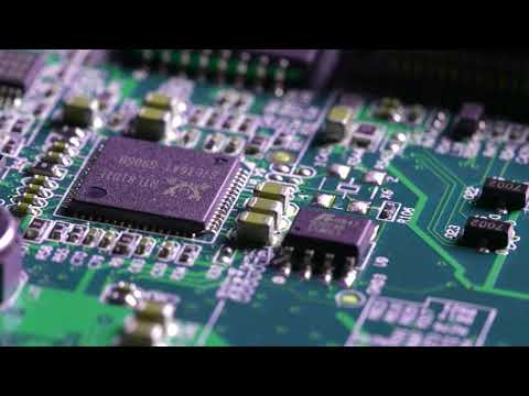Slow Tracking Over Circuit Board - Copyright Free Stock Footage Clip