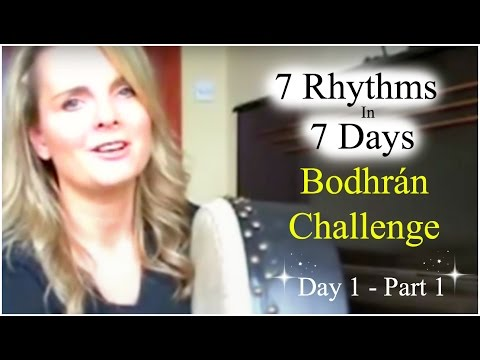 (How To Play The Bodhran) 7 Rhythms In 7 Days Bodhran Challenge - Day 1 Part 1