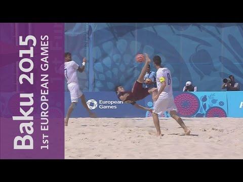 Gold Final Highlights: Italy 2 - 3 Russia   Beach Soccer   Baku 2015 European Games