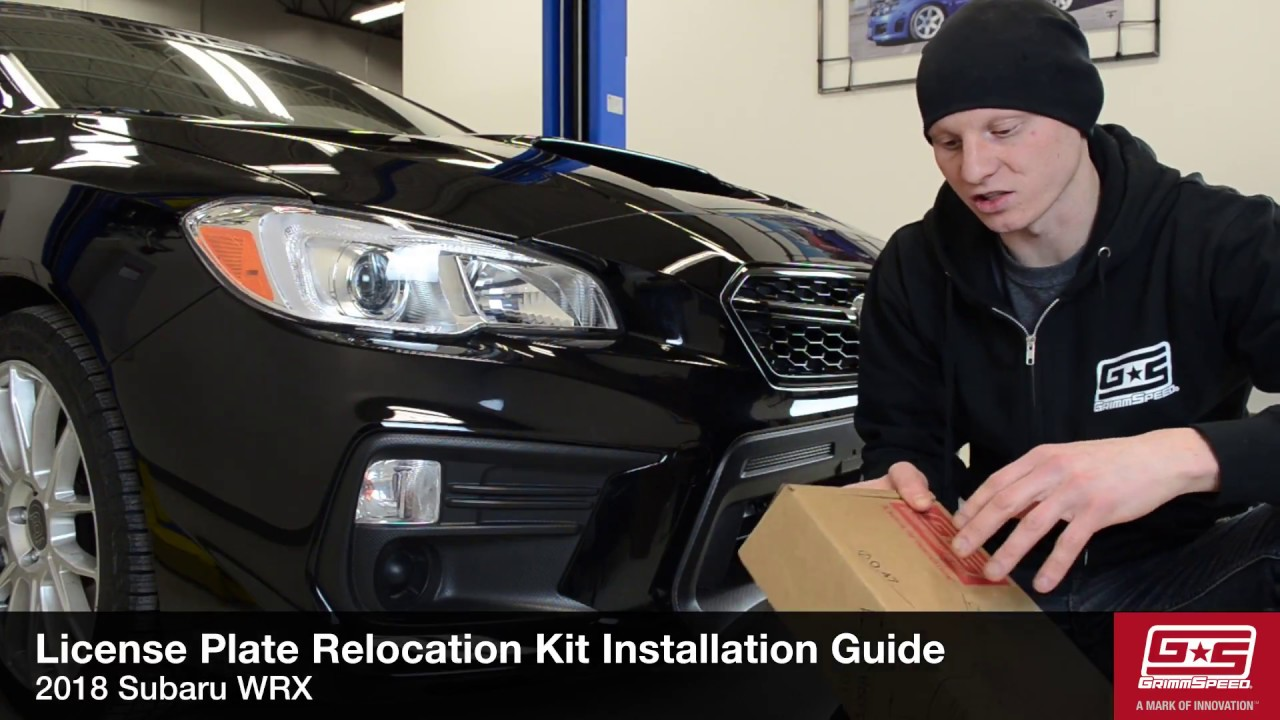 GrimmSpeed License Plate Relocation Kit Install