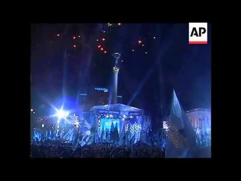 Yanukovych and Tymoshenko rallies
