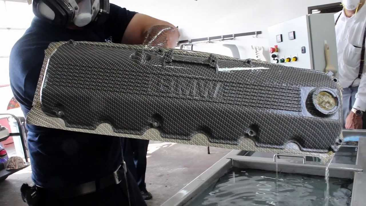 Bmw Valve Cover Hydro Dipped In Carbon Fiber By Voyles