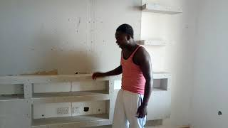 Fundi akielezea kuhusu TV wall ya gypsum board design