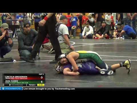 Middle School 71 Zion Mares Pueblo County Wrestling Club Vs Lincoln Gregersen Arvada West Youth Wr