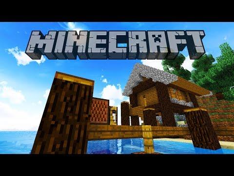 Fishing Hut & Portal Cavern | Minecraft 1.12 Survival Let's Play | Episode 4