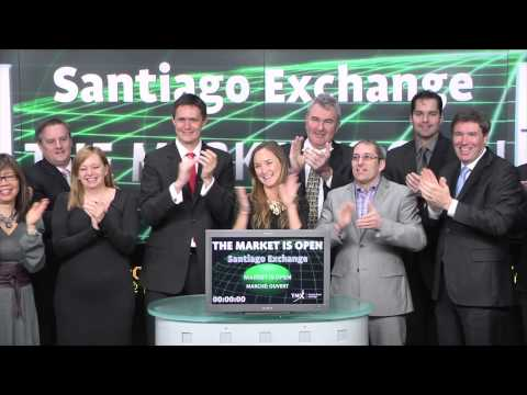 Santiago Stock Exchange opens Toronto Stock Exchange, March 4, 2015