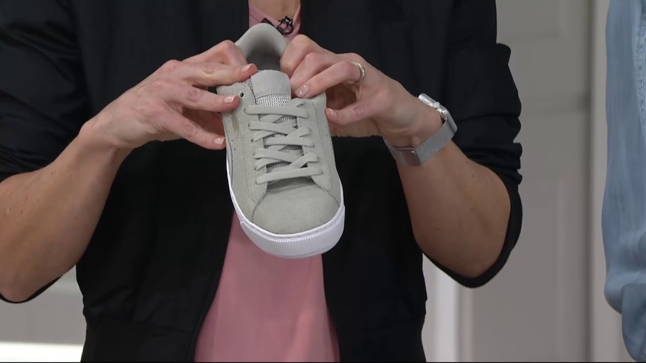 aaa7c0675307 PUMA Leather or Suede Platform Sneakers - Vikky Platform on QVC ...