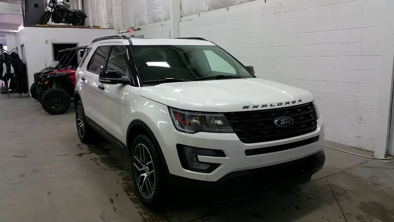 2017 Ford Explorer 4WD 4dr Sport W Ecoboost Captains Chairs Twin Panel Moonroof