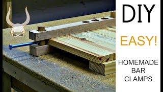 Crazy Easy Homemade Bąr Clamps | DIY