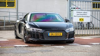Audi R8 V10 Plus with Capristo Exhaust - LOUD Revs, Launch Control & Accelerations !