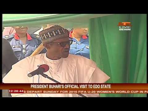 President Buhari in Benin City, Edo State