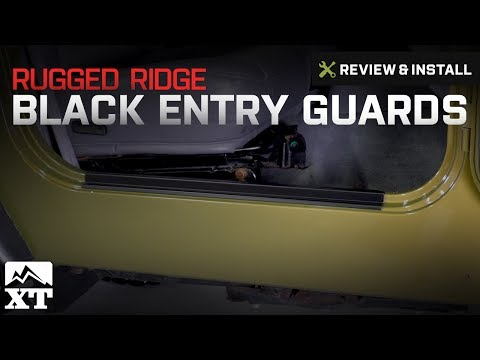 Jeep Wrangler Rugged Ridge Black Entry Guards (1997-2006 TJ) Review & Install