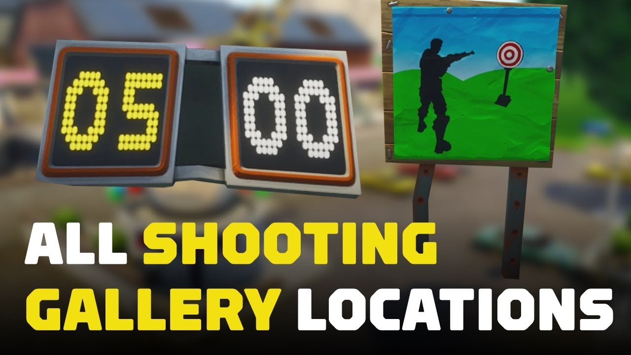 Fortnite Score 3 At Different Shooting Galleries All Locations