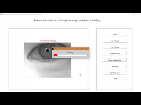 Iris Recognition using Cross Spectral Matching MATLAB Projects
