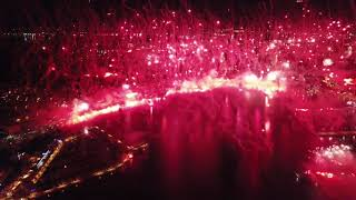Torcida 70 godina bakljada drone snimak  28.10.2020.  Split, Croatia