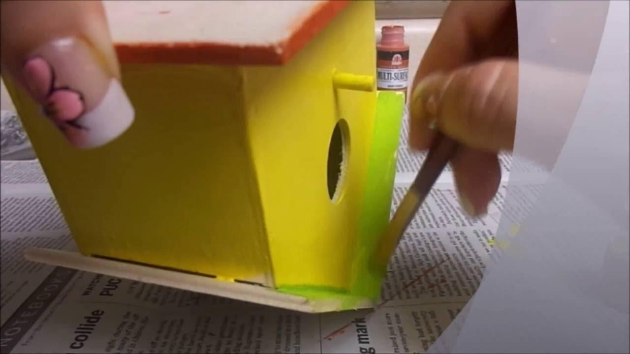 Manualidades De Decoracion De Casita De Pajaros Decorate Your Birdhouse
