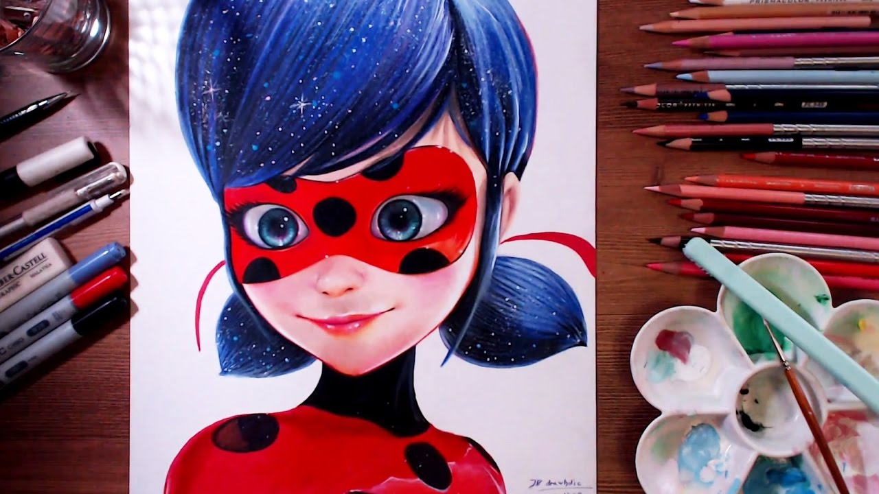 Attractive Miraculous Ladybug (Marinette)   Speed Drawing | Drawholic   YouTube