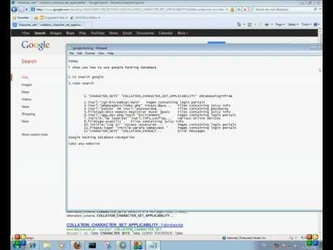 how to use google hacking database