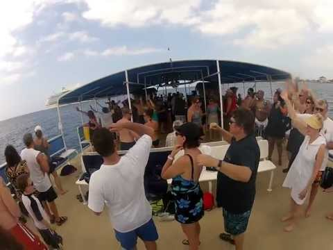 Dj Oj from Cayman Island on happy hour boat with cruise ship guest (Sneak Preview)