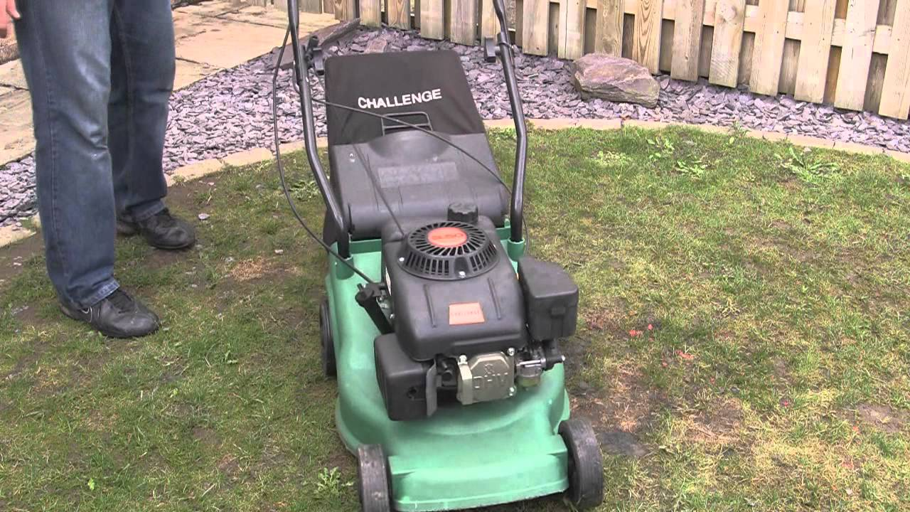 challenge green lawnmower test