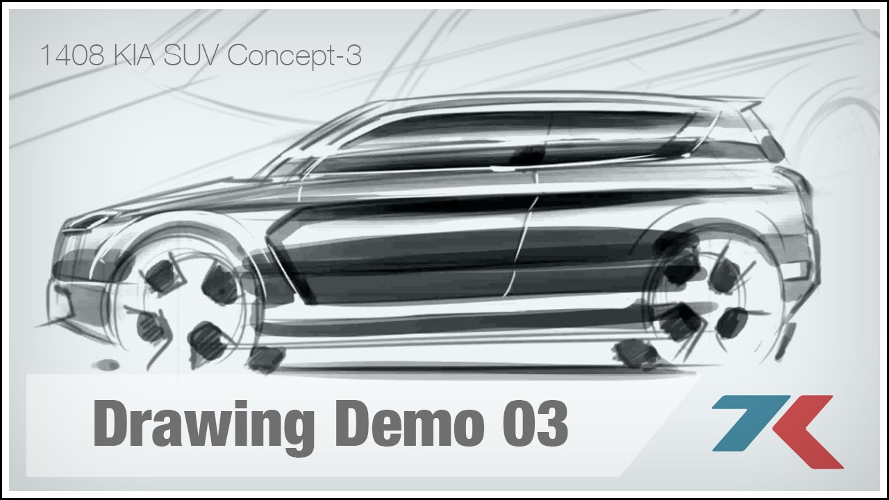 Kia Suv Concept Car Drawing Demo Youtube
