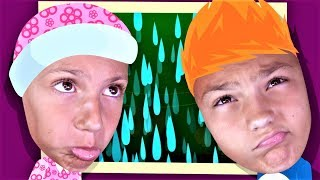 RAIN RAIN GO AWAY Song - Pretend play Nursery rhymes