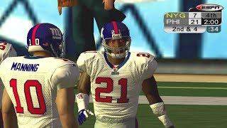 NFL 2K5 Week 1 Giants vs Eagles XBOX HD