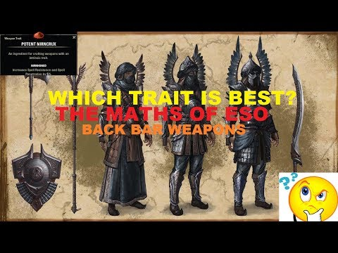 Which is the BEST backbar trait?! MATHS OF ESO #2