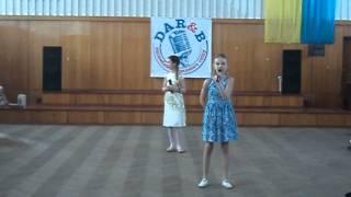 """Патра Настя та Мирончук Ліза. Уривок з мультфільму """"Крижане серце"""""""