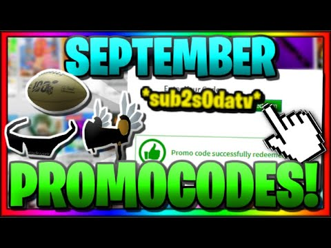 *ALL* WORKING PROMO CODES IN ROBLOX!   (SEPTEMBER 2019)
