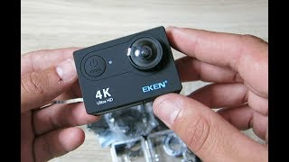 EKEN H9 action camera unboxing. Распаковка экшн камеры EKEN H9 с aliexpress. Дешёвая экшн камера .