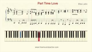 "How To Play Piano: Elton John ""Part Time Love"" Piano Tutorial by Ramin Yousefi"