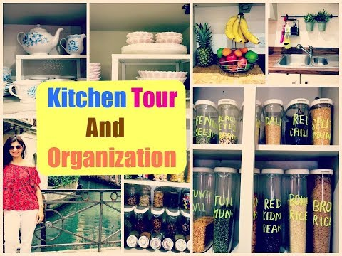 Indian Kitchen Tour-PART2||How to Organize a Small Kitchen||INDIAN Kitchen Organization and Ideas