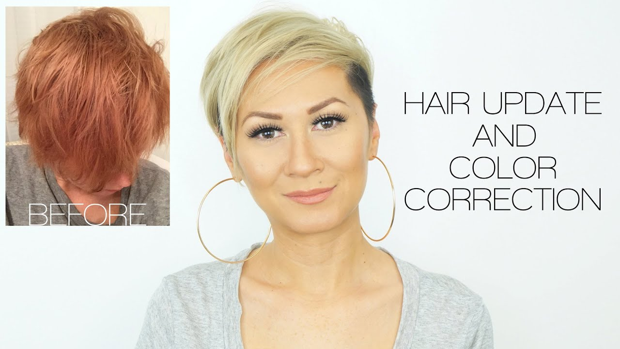 Hair update color correction reddish orange to blonde youtube urmus Image collections