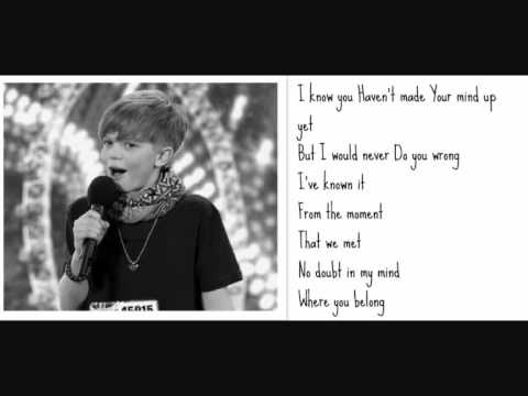 Ronan Parke make you feel my love Lyrics (britains got talent semi-final)