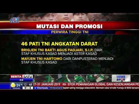 104 Perwira Tinggi TNI Resmi Menjabat Posisi Baru