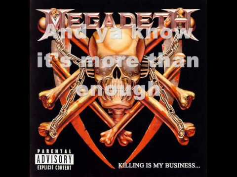 Megadeth-Mechanix (lyrics)