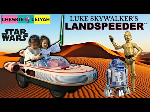 LUKE SKYWALKER'S LANDSPEEDER RIDE ON, Star Wars 40th  Anniversary By Radio Flyer, Toy Unboxing