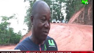 Roads Minister inspects ongoing projects in E?R