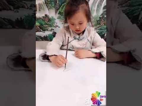Amazing Drawing Skills of 4 Years Old Chinese Girl