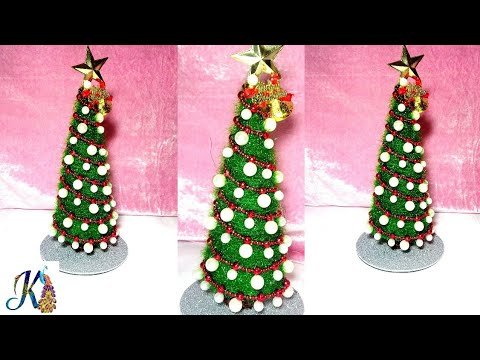 DIY Tabletop Christmas Tree | Easy Christmas Decoration Idea | Christmas  Craft Ideas