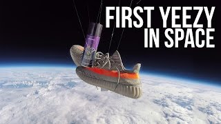 Unbelievable : Adidas Yeezy Boost 350 v2 in space!! Go pro Footage thumbnail