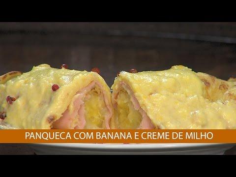 PANQUECA COM BANANA E CREME DE MILHO