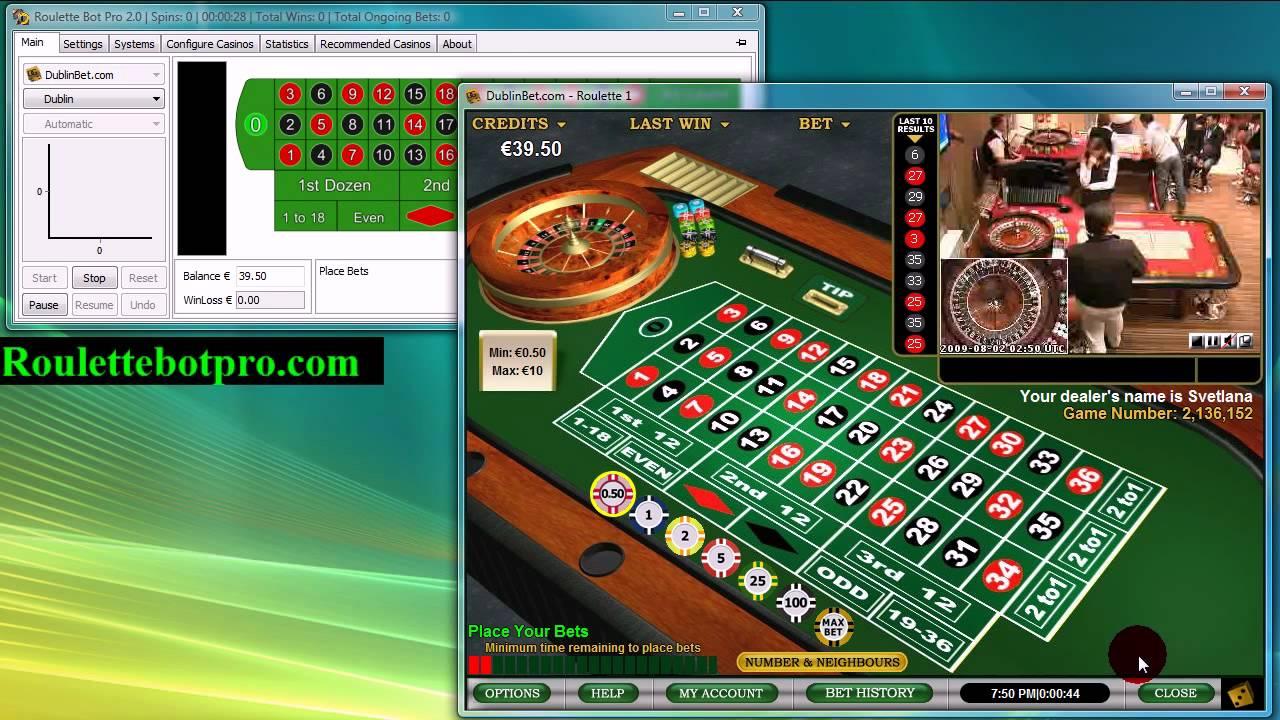 Roulette Bot Pro 2 Dublin Bet Live Casino Youtube