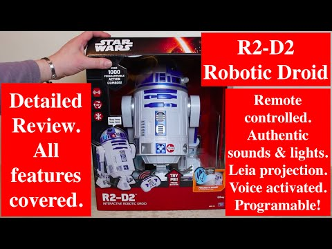 "16"" R2-D2 Interactive Robotic Droid by ThinkWay - Detailed Review, All Features covered"