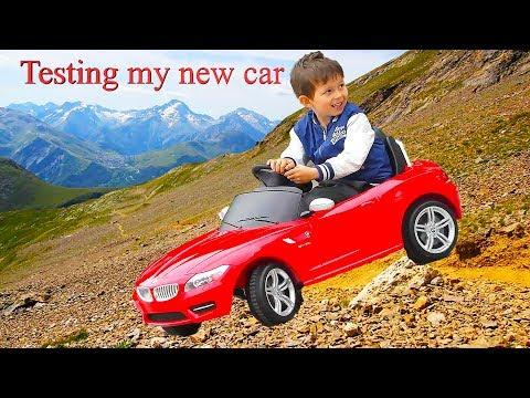 Новый электромобиль для Даника: распаковка,обзор и тестдрайв